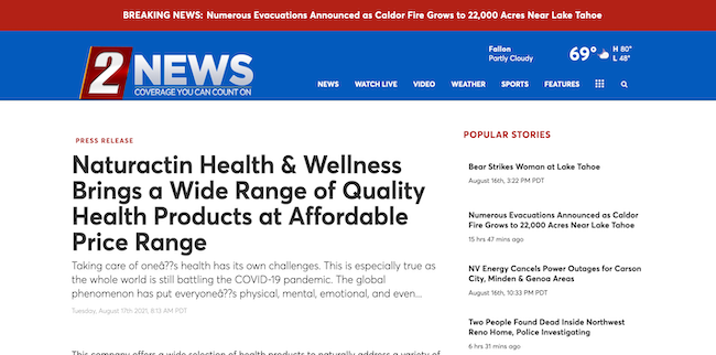 2 News Naturactin Health and Wellness