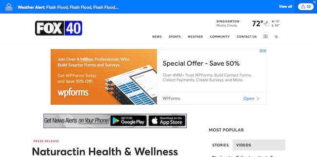 Fox40 Naturactin Health and Wellness