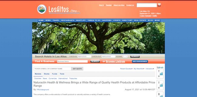 Los Altos Naturactin Health and Wellness