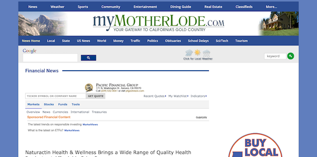 My Mother Lode Naturactin Health and Wellness