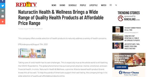 RFD TV Naturactin Health and Wellness