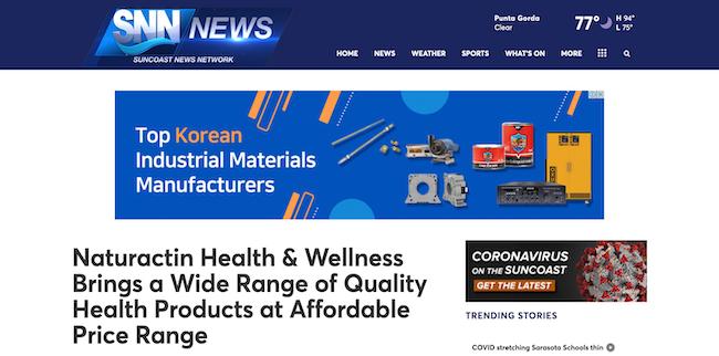 SNN News Naturactin Health and Wellness