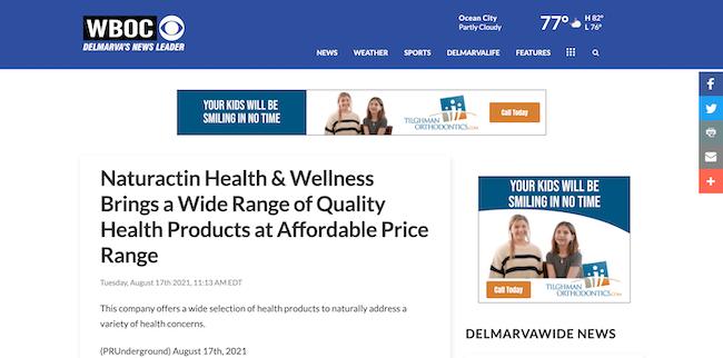WBOC Naturactin Health and Wellness