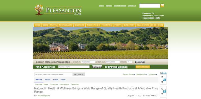Pleasanton Naturactin Health and Wellness