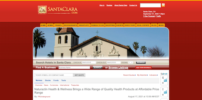 Santaclara Naturactin Health and Wellness